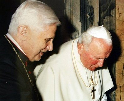 progressive involvement: Benedict paying for John Paul\'s sins?