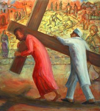Leech-gwyneth-simon-of-cyrene-helps-carry-the-cross