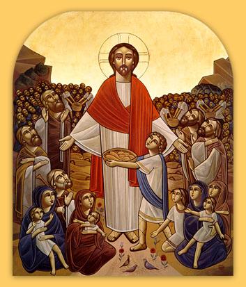 Christ_feeding_the_multitude coptic icon