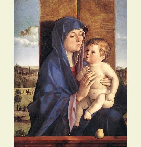 Madonna and child bellini 1480-1490