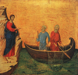 The Calling of Peter and Andrew, Duccio di Buoninsegna1308-11, National Gallery of Art, Washington