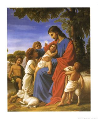 Ma012jesus-and-children-posters