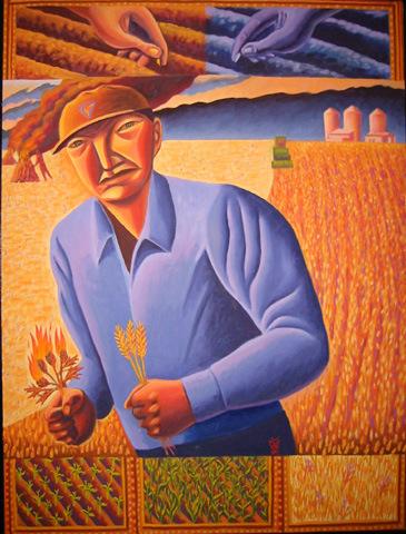Grain-and-weeds james b janknegt