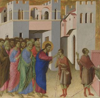Healing of the man born blind duccio