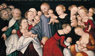 Cranach Elder.Let the Children come To Me