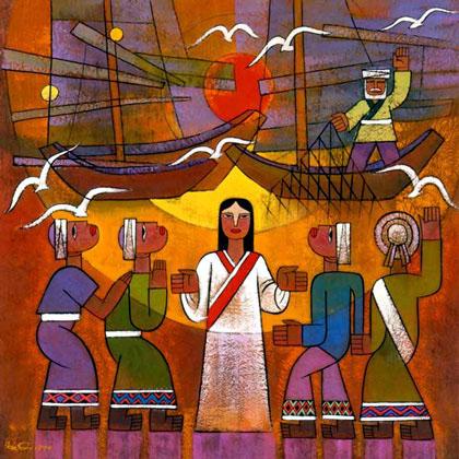 Heqi calling disciples