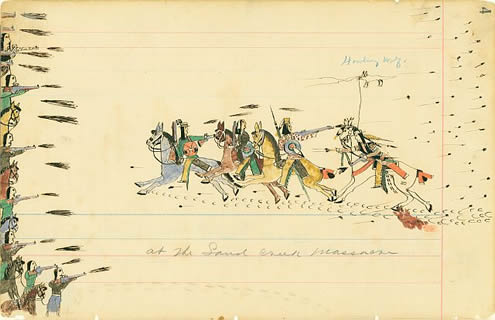 Sand creek massacre howling wolf
