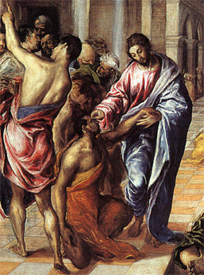 Christ healing the blind  el greco